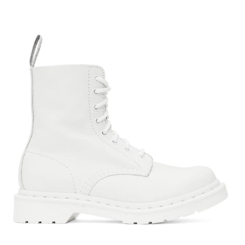 补货!Dr.Martens 1460白色厚底鞋 Rose同款