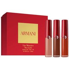 Armani 阿玛尼Mini红管唇釉套装(103/209/405)全员开放!