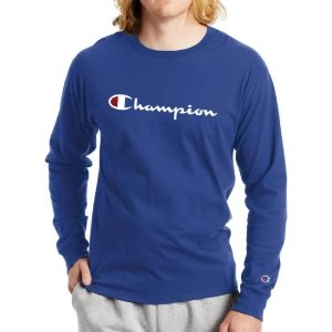 Champion 男士长袖T恤 码数齐全 多色可选