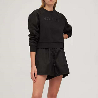 Moncler 蒙口 黑色女款 Logo卫衣