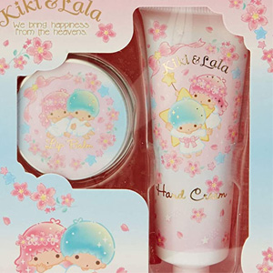日本Sanrio三丽鸥 双子星保湿护手霜润唇膏套装