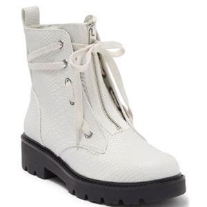 UGG 蛇皮压纹女士系带靴
