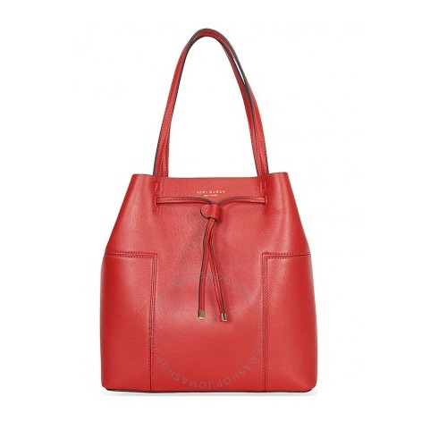 Block-T Drawsting Leather Tote