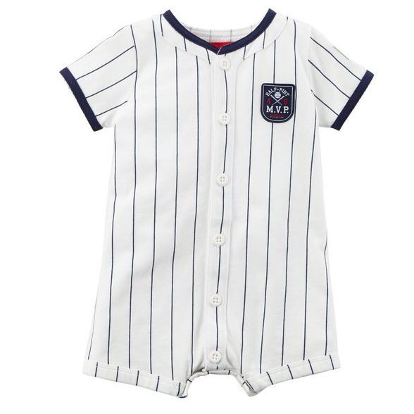Baseball Snap-Up Romper