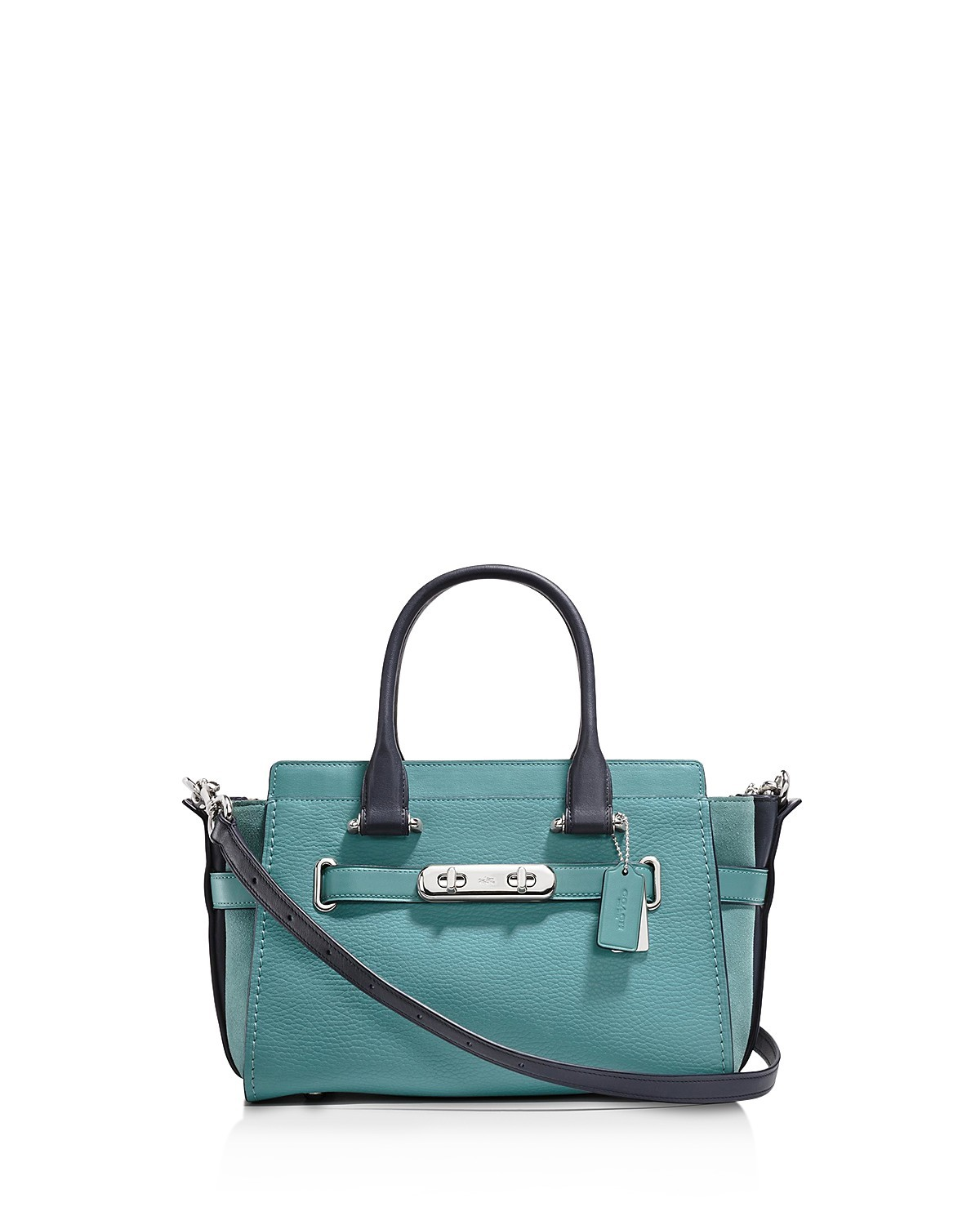 Swagger 27 Colorblock Mixed Leather Satchel