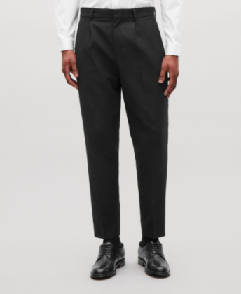 SLIM-FIT TROUSERS WITH PLEATS
