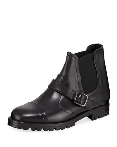 Traba Leather Lug Sole Bootie