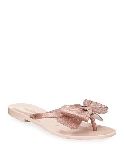 Melissa Shoes Harmonic Glittered PVC Bow Sandals