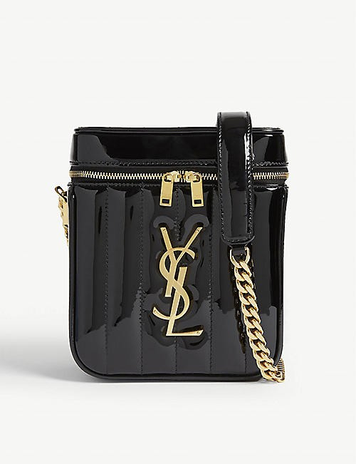 SAINT LAURENT Vicky 漆皮包