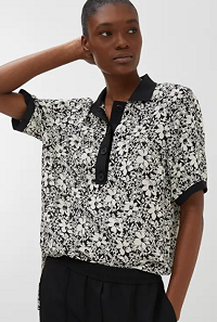 Floral Viscose Crêpe Top