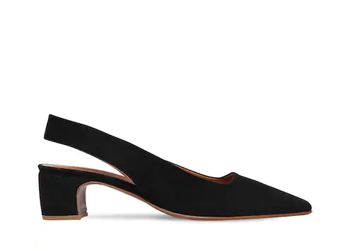 BY FAR 50MM DANIELLE SUEDE SLINGBACK PUMPS