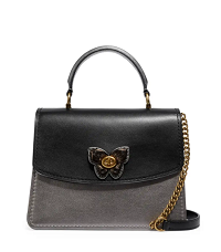 Coach 1941 Parker Butterfly Metallic Top Handle Bag