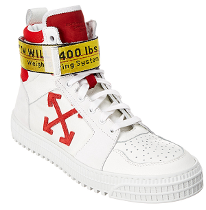 Off-White Industrial High Top Leather Sneaker