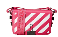 Off-White™ Diagonal Stripe Binder Clip Mini Leather Flap Bag