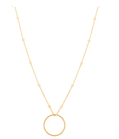 Basic 2.0 Large Halo Necklace in Gold