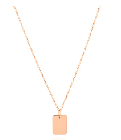 Basic 2.0 Large ID Necklace in Rose Gold