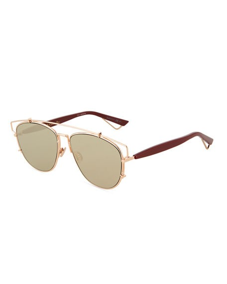 Dior Metal/Acetate Aviator Sunglasses