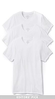 3 件装常规版型经典短袖 T 恤