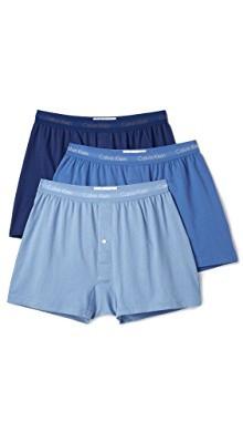 棉质经典 3 件式针织平角短裤