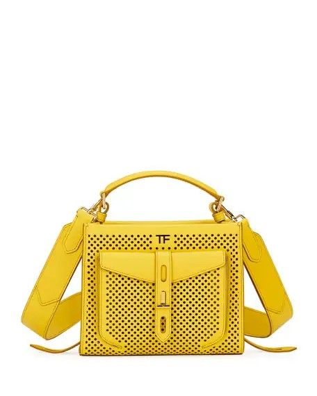 TOM FORD T Twist Mini Perforated Top-Handle Bag