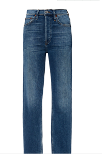 Click Product to Zoom Re/done Cropped High-Rise Slim-Fit Jeans