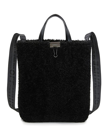 Off-White Montone Shearling Tote Bag
