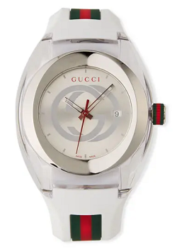 Gucci 46mm Gucci Sync XXL Sport Watch w/ Rubber Strap, White