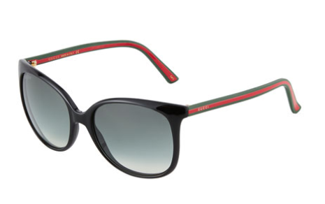 Gucci Oversized Round Cat-Eye Acetate Sunglasses