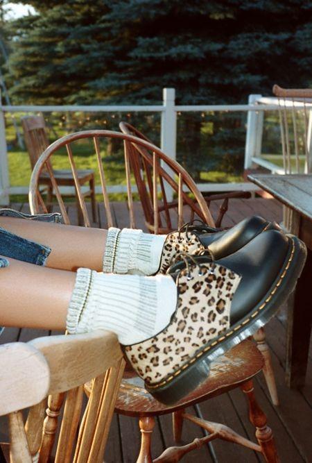 1461 豹纹3孔鞋