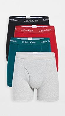 棉质经典平角内裤套装