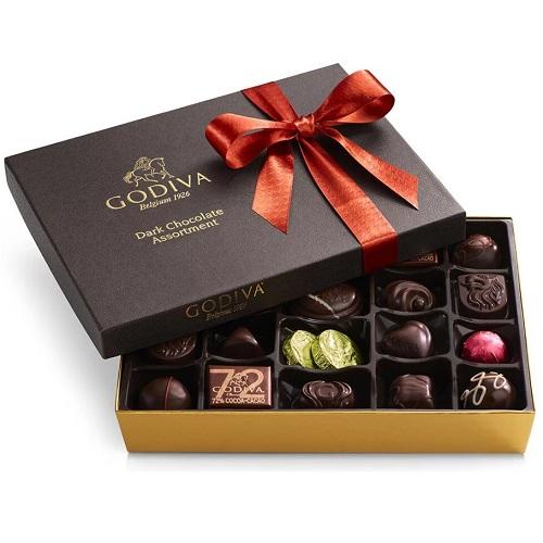黑巧克力拼盘礼品盒