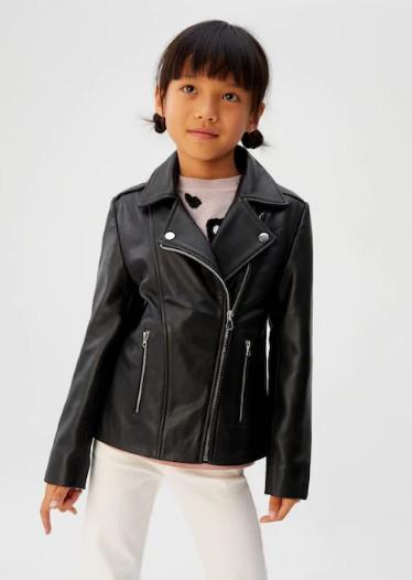 女童皮夹克