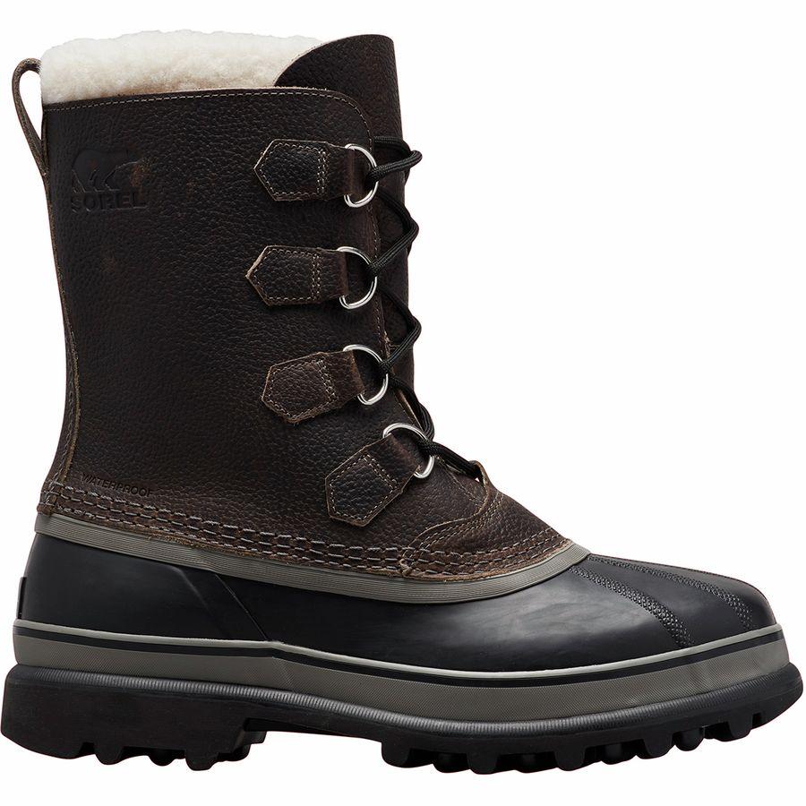 男士棕黑色靴