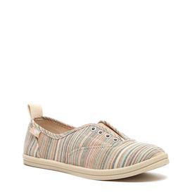 条纹帆布鞋