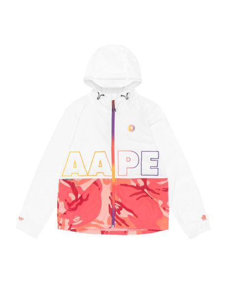 Aape Logo 印花连帽拉链薄外套