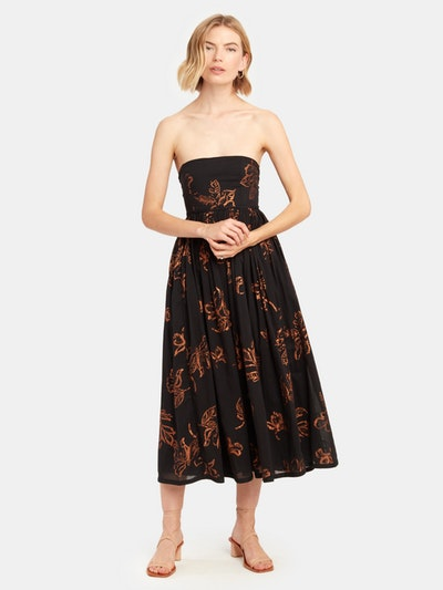 Baja Babe Strapless Midi Dress