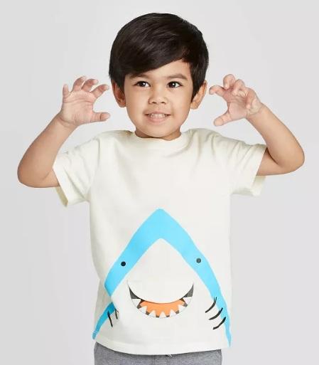 男孩鲨鱼短袖