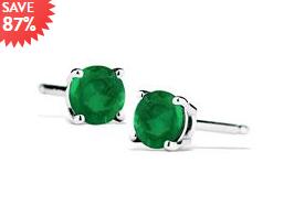 925银绿宝石耳钉