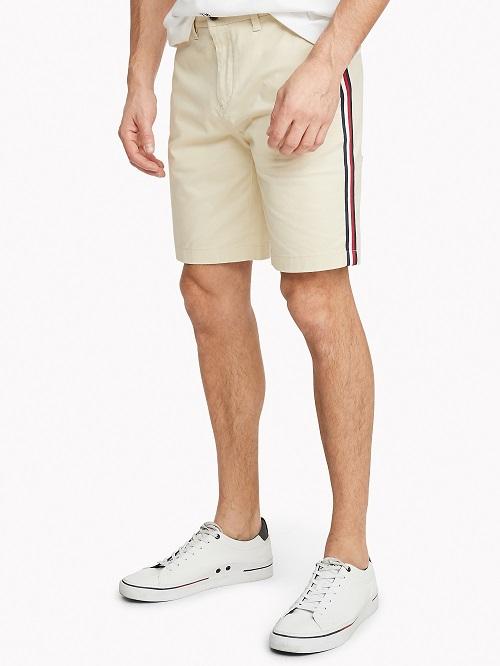 男士经典侧边条纹短裤