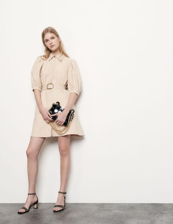 棉麻质地连衣裙