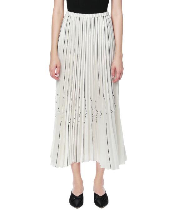 VIVETTA 剪影印花裥褶半身裙