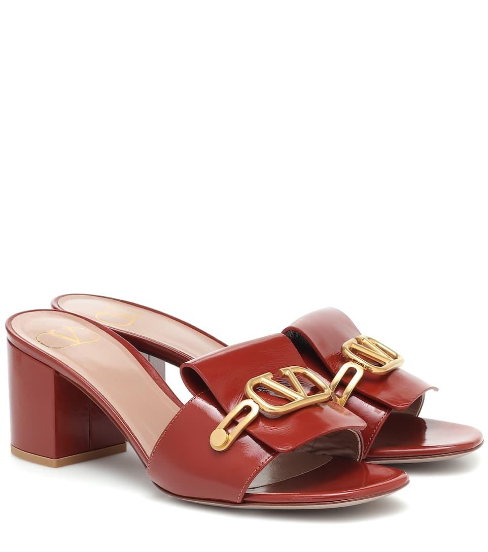 Valentino Garavani VLOGO 漆皮凉鞋