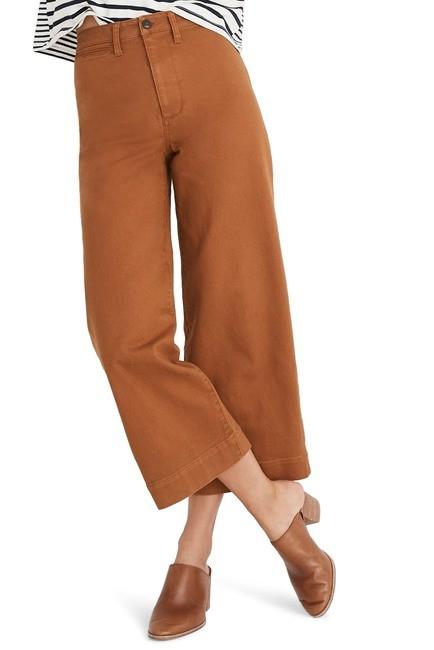 高腰阔腿裤