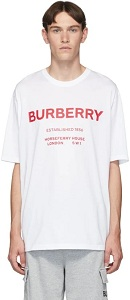 Burberry White Murs T-Shirt