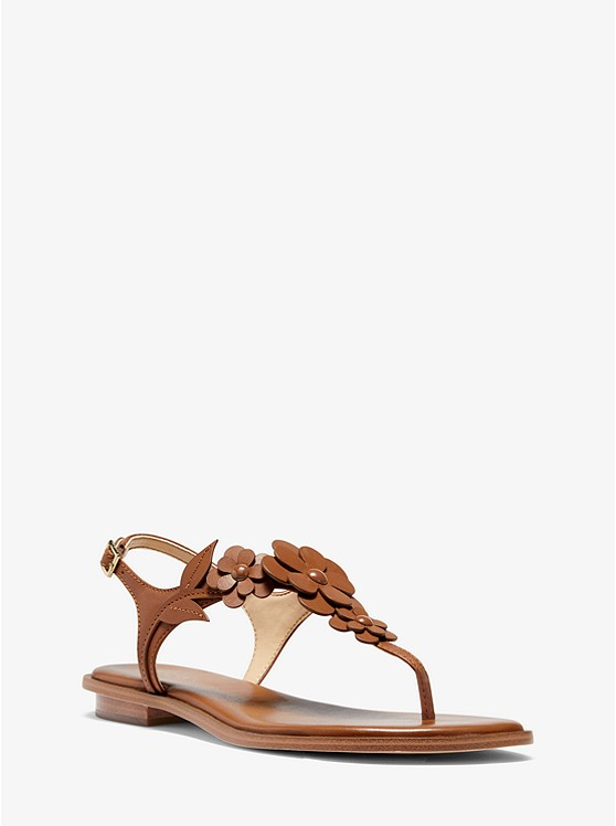 Flora Appliqué Leather Sandal