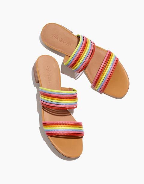 彩虹带凉鞋