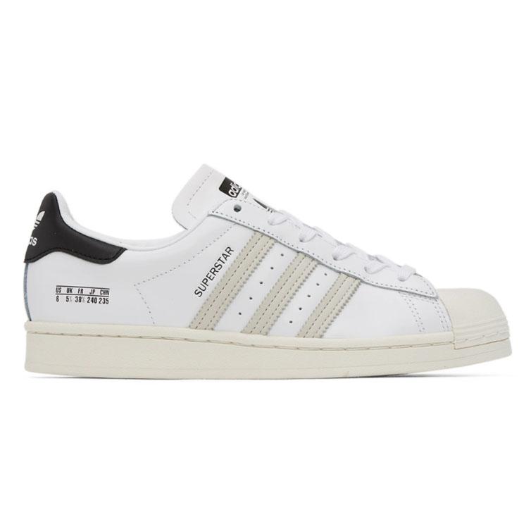 adidas Originals White & Black Superstar Sneakers