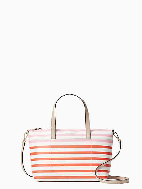 patrice tropical stripe satchel