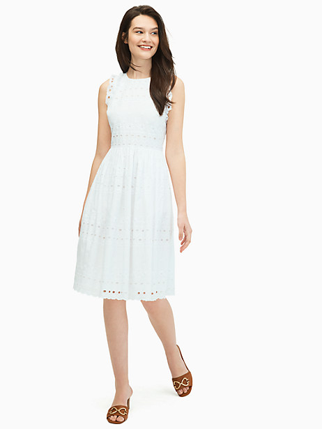 casual spade eyelet dress