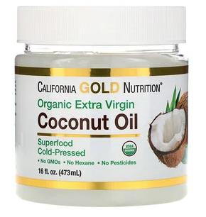 California Gold Nutrition 冷榨有机初榨椰子油